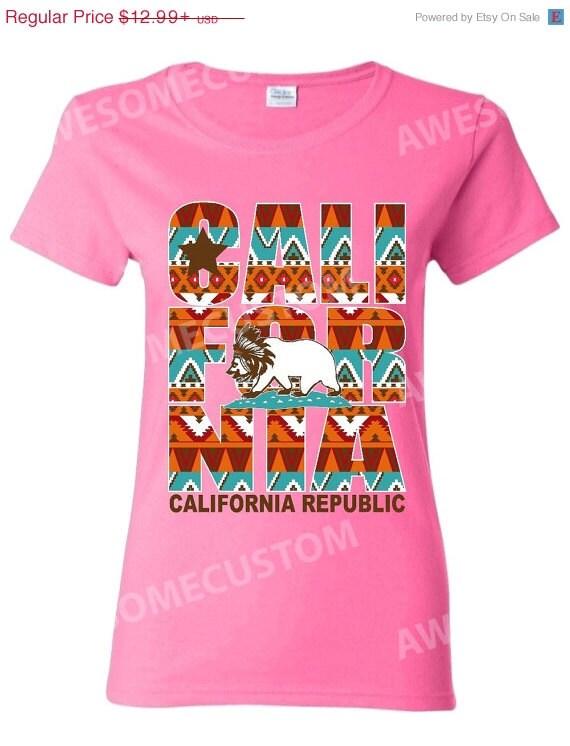 california republic indian pattern t shirt by