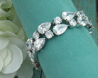 Bridal Jewelry bracelet, cz wedding bracelet, cz bracelet, cubic zirconia bracelet, bridal jewelry, wedding accessories 210549253