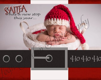4x6 or 5x7 Santa Christmas Card