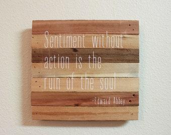 Wood wall quote - repurposed wood, custom quote, handmade