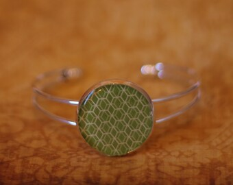 Apple Green Geometric Bracelet