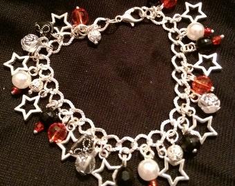 Red Star charm bracelet