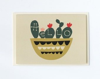 Hello Cactus Card