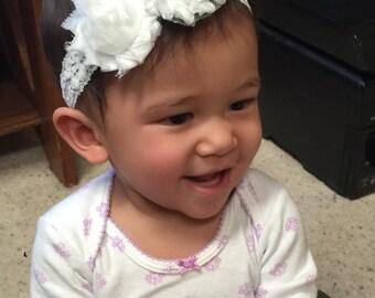 All White Everything Baby Headband
