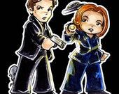 Mulder and Scully Stickers