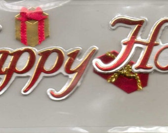 Ek Success Jolee's by You HAPPY HOLIDAYS Dimensional Embellishments