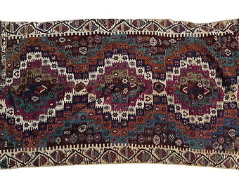 SALE ! 2,995.00 Turkish Antique Anatolian Hand Woven Nomadic Slit Kilim Rug!