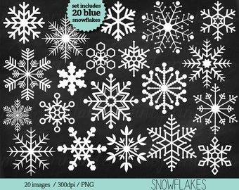 Snowflake Clipart, Snowflake Clip Art, Christmas Clipart, Snow Winter Holiday Season Frozen - Commercial & Personal - BUY 2 GET 1 FREE!