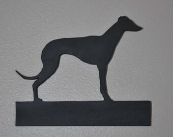 Greyhound - Chalkboard Wall Hanging - Leash Holder - Key Holder -