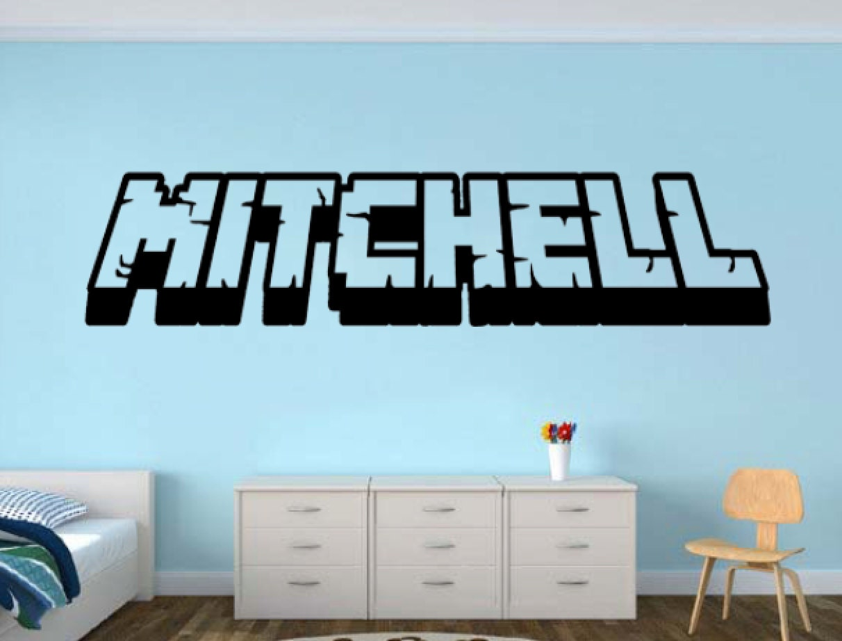 Personalized gamer name wall decal 3d looking gamer room for Space decals
