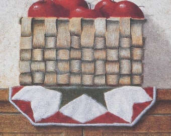 Apples Wall Decor Still Life 16 x 12 Inches Print of an Original Oil Painting by Ron Wickersham
