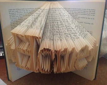 Home folded book art with stars