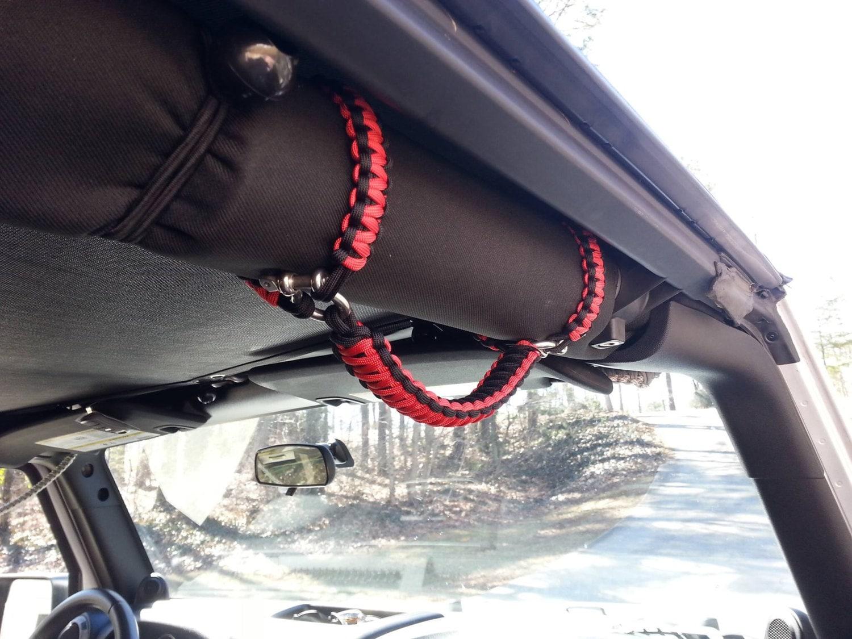 Paracord Grab Handles Roll Bar Mount Full Set Jeep Jk