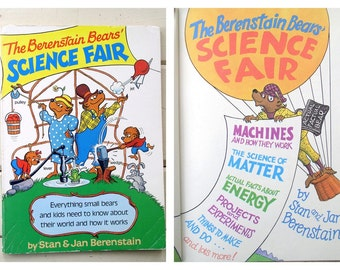 Vintage 1980's Children's Book / The Berenstain Bears Science Fair / by Stan & Jan Berenstain / 80's Paperback Picture Book