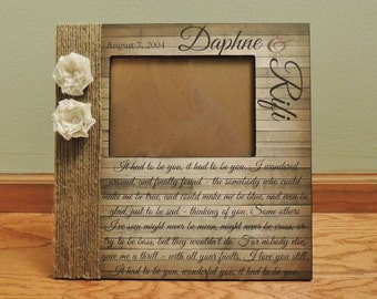 Rustic Wedding Picture Frame | Rustic Song Lyric Frame | Personalized Wedding Frame