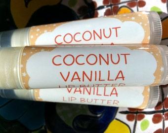 Coconut Vanilla Lip Butter ~ Lip Balm ~ Lip Moisturizer