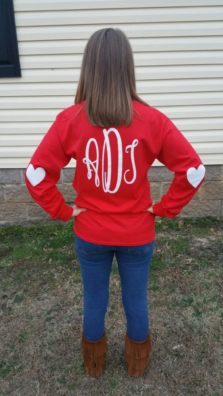 valentine u0026 39 s day long sleeve monogrammed tee shirt