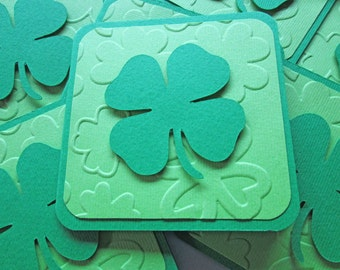 Mini St. Patrick's Day Cards, Mini Shamrock Cards, Clover Cards, Green Cards, St. Patrick's Day Tags, St. Pattys Day Cards, Irish Cards
