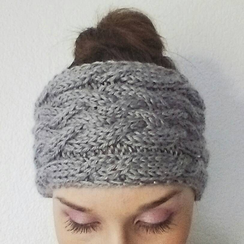 Twist Headband Knitting Pattern : Pattern Only// Braided Uneven Twist Cable by AllYouNeedleIsKnits