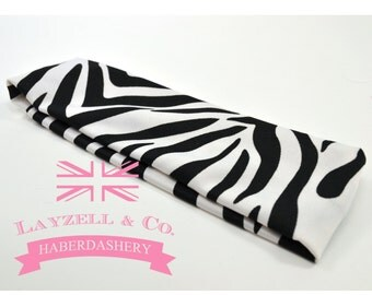 Zebra cotton 2 in wide headband