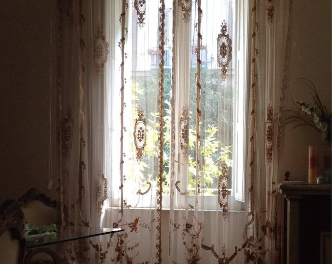 Victorian gold curtain