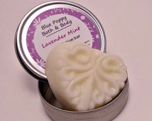 Lavender Mint Solid Lotion Bar, Lotion Balm in Tin