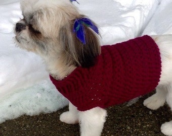 Solid Color Basic Dog Sweater