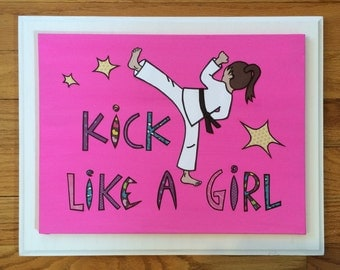 Wall Art, Wall Decoration, Home Decor, Art for the Home, Kick Like A Girl, Girls Room Decor, Decorations for Girls Room, Wall Art for Girls