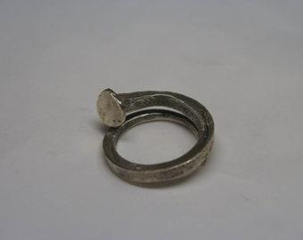 Nail silver keychain