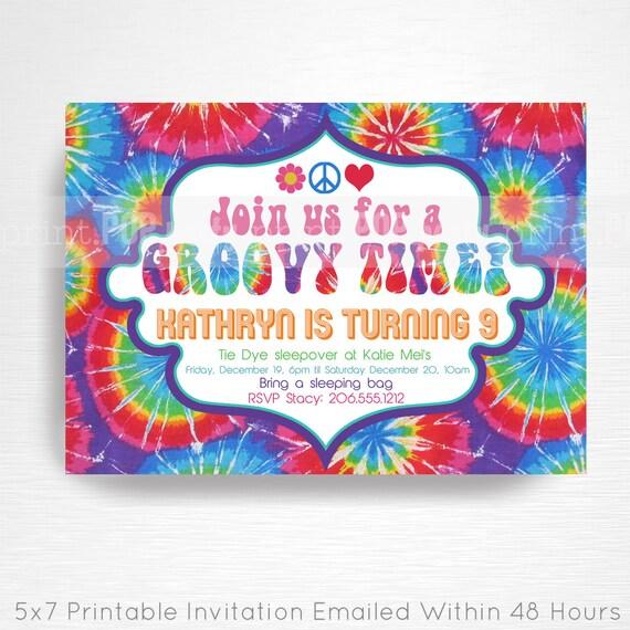 Tie dye birthday invitations radiotodorock tie dye baby shower invitations filmwisefo