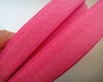 Pink Sew on Velcro Hook and Loop Tape 3/4'' 20MM 2Yards