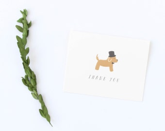 Cute Dog Thank You Card, Dog Card, Thank You Card, Thanks Card, Puppy Card, Thank You Card Dog, Cute Dog Card, Cute Thank You Card