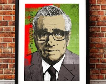 Martin Scorsese portrait print, Martin Scorsese print, film print, Martin Scorsese movie art, film print, Martin Scorsese, film poster