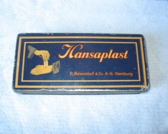 HANSAPLAST- Vintage tin patches box (1950-1960s)