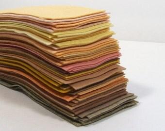 Felt Remnants Grab Bag, 20 pieces - Neutrals - Felt Rectangles - Felt Scraps - Wool Blend Felt