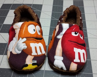 Ready to ship,M&M, Baby Shoe, Baby Slipper, Baby Soft Sole Shoe,Toddler shoe