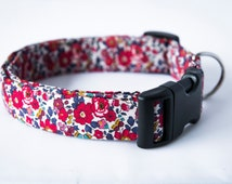 Betsy Liberty cord fabric dog collar
