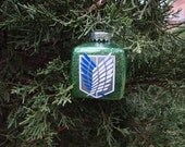 Attack on Titan - Shingeki No Kyojin - Inspired Christmas Ornament - Scout - Survey Corps Crest - Choice of Colors - *Free  Personalization*