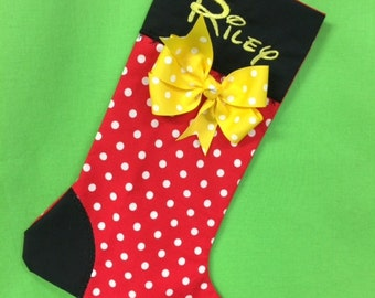 Custom Minnie Mouse Christmas Stocking