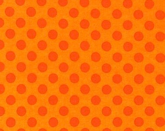 Robert Kaufman Polka Dots 100% Cotton from Spot On Orange Flame Tonal
