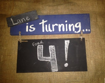 Chalk board sign- Is turning