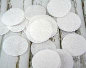 WHITE FELT Circles, 4cm Felt Circles, 3cm Felt Circles, Craft Supply, DIY Headband Supplies, Hair Clip Supplies, Scrapbooking Supplies