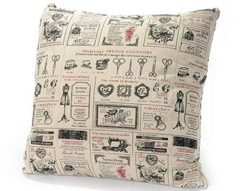 Printed Fabric Pillow Cover