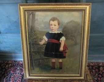 American Antique Portrait of a Child