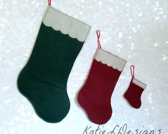 ITH Blank Felt Christmas Stocking Complete Set Machine Embroidery Design Pattern Download 6 Sizes In The Hoop Christmas Stocking Blank Felt