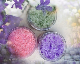 Bath Salt Soak 3 2 oz. sample set...You choose the scents