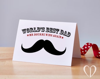 Custom World's Best Dad Card – Father's Day Card