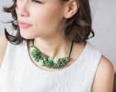 Statement necklace | Succulent jewelry |  Wedding jewelry | Living jewelry