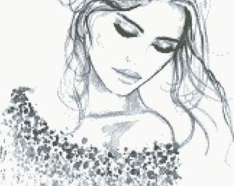 Cross Stitch Pattern ''Beauty 4''