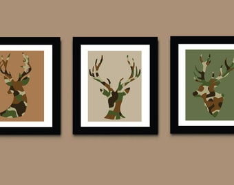 Deer Art Prints, Boys Art Print, Wall Art, Kids Art Print, 618